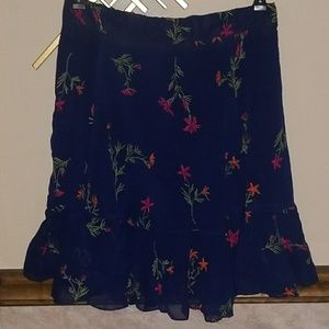 Romeo & Juliet Couture Floral Embroidered Skirt